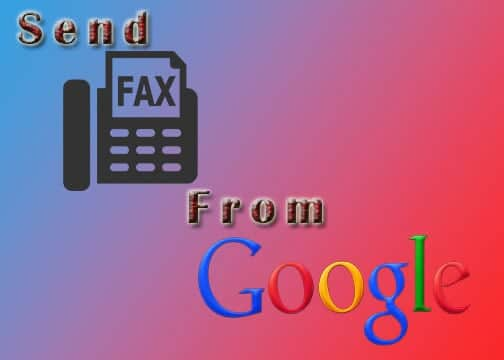 How do I send fax from gmail?
