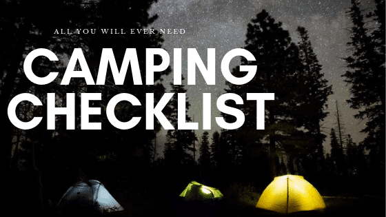 Complete new Camping Checklist