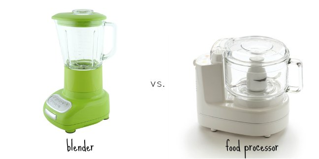 Difference Between a Food Processor and a Blender